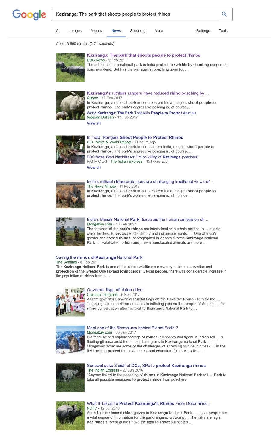 google search first articles
