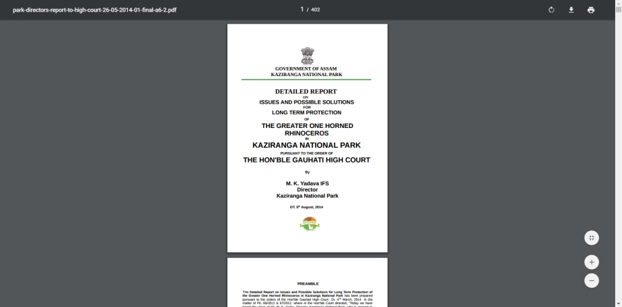 Official file - national park